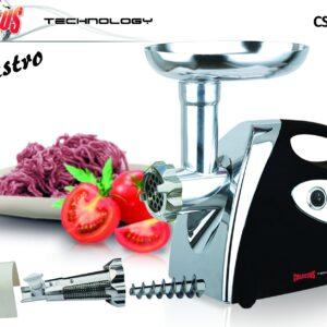 Colossus električni mlin za meso i paradajz CSS-5426 je električni mlin snage 1200W koji dolazi u kompletu sa raznim dodacima.